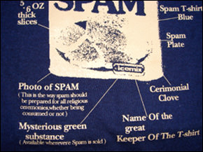 SPAM Tシャツ プリント